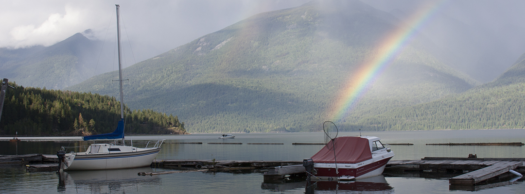 Rainbow on Kootenay Lake by Doug Williamson